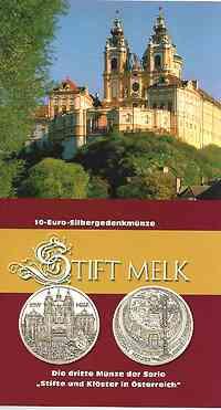 Österreich : 10 Euro Stift Melk im Originalblister  2007 Stgl.