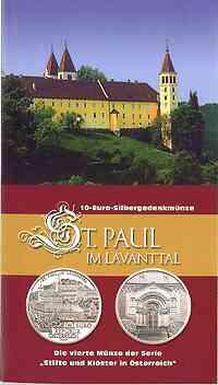 Österreich : 10 Euro St. Paul im Lavanttal im Originalblister  2007 Stgl.