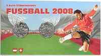 Österreich : 10 Euro 2 x 5 Euro Dribbling + Stürmer in Originalblister  2008 Stgl.