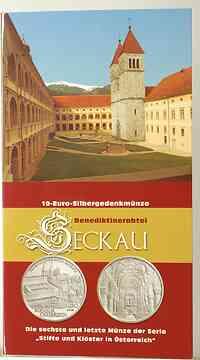 Österreich : 10 Euro Abtei Seckau im Originalblister  2008 Stgl.