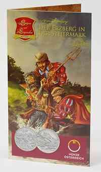 Österreich : 10 Euro Erzberg in der Steiermark im Originalblister  2010 Stgl. 10 Euro Steiermark 2010