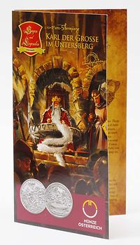 Österreich : 10 Euro Karl der Große im Untersberg im Originalblister  2010 Stgl. 10 Euro Karl der Große 2010