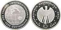 Deutschland : 10 Euro III. Ausgabe FIFA Fußball WM Deutschland 2006 in Originalkapsel  2005 PP