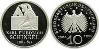 Deutschland : 10 Euro Karl Friedrich Schinkel in Originalkapsel  2006 PP 10 Euro Schinkel 2006