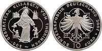Deutschland : 10 Euro 800. Geburtstag Elisabeth von Thüringen in Originalkapsel  2007 PP