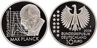 Deutschland : 10 Euro Max Planck in Originalkapsel  2008 PP 10 Euro Max Planck