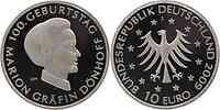 Deutschland : 10 Euro 100. Geburtstag von Marion Gräfin Dönhoff in Originalkapsel  2009 PP 10 Euro Dönhoff