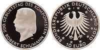 Deutschland : 10 Euro 200. Geburtstag von Robert Schumann in Originalkapsel  2010 PP