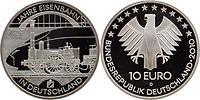 Deutschland : 10 Euro 175 Jahre Eisenbahn in Deutschland  2010 PP