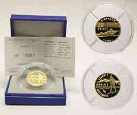 Frankreich : 10 Euro Biathlon inkl. Originaletui und Zertifikat  2005 PP 10 Euro Biathlon 2005