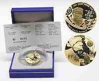 Frankreich : 10 Euro Von der Erde zum Mond, inkl. Originaletui und Zertifikat  2005 PP 10 Euro Frankreich 2005; 10 Euro von der Erde zum Mond