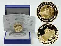 Frankreich : 10 Euro Reiten inkl. Originaletui und Zertifikat  2007 PP Olympiade Peking Gold