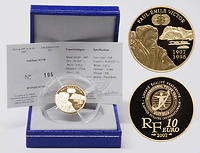 Frankreich : 10 Euro Paul Emile Victor inkl. Originaletui und Zertifikat  2007 PP