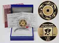 Frankreich : 10 Euro Kanei-Thuho Münze inkl. Originaletui und Zertifikat  2008 PP 10 Euro Kanei-Thuho Münze
