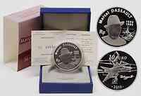 Frankreich : 10 Euro Marcel Dassault  inkl. Originaletui und Zertifikat  2010 PP