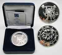 Griechenland 10 Euro Ausgabe V. : Gewichtheben 2004 PP