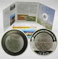 Luxemburg : 10 Euro Titan/Silber 150 Jahre BCEE in Originalblister  2006 PP 10 Euro Luxemburg Titan; 10 Euro Luxemburg Staatsbank 2006 PP