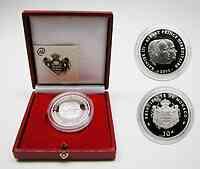 Monaco : 10 Euro Rainier III. + Albert inkl. Originaletui und Zertifikat  2003 PP