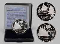 Slowakei 10 Euro Holzkirchen in den Karpaten 2010 PP