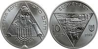 Slowakei : 10 Euro Chatam Sofer - 250. Geburtstag  2012 Stgl.