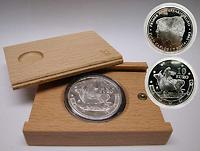 Spanien : 10 Euro 1. Geburtstag des Euros inkl. Originalholzkassette und Zertifikat  2003 PP