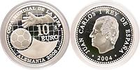 Spanien : 10 Euro zur Fußball WM in Deutschland  2004 PP