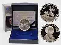 Spanien : 10 Euro Francisco de Goya - Duell mit Knüppeln inkl. Originaletui und Zertifikat  2010 PP