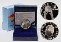Spanien : 10 Euro Fußball Weltmeister inkl. Originaletui und Zertifikat  2010 PP 10 Euro Fußball WM Spanien 2010 PP