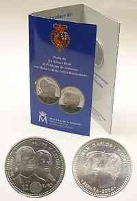 Spanien : 12 Euro Königliche Hochzeit im Originalblister  2004 Stgl.