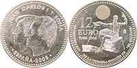 Spanien : 12 Euro Don Quijote  2005 vz/Stgl.