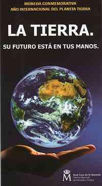 Spanien : 12 Euro Internationales Jahr des Planeten Erde  2008 Stgl.