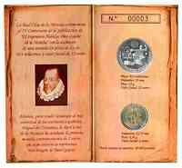 Spanien : 14 Euro Set aus 2 + 12 Euro Gedenkmünze Don Quijote im Originalblister  2005 bfr