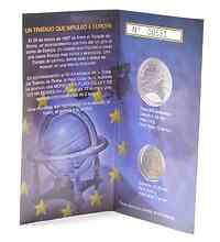 Spanien : 14 Euro Set aus 2 + 12 Euro Gedenkmünze Römische Verträge im Originalblister  2007 Stgl. 14 Euro Römische Verträge