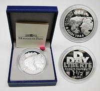 Frankreich : 1,5 Euro 60. Jahrestag D-Day inkl. Originaletui und Zertifikat  2004 PP