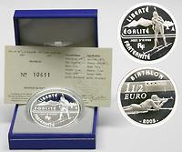 Frankreich : 1,5 Euro Biathlon inkl. Originaletui und Zertifikat  2005 PP