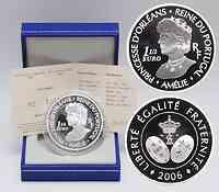 Frankreich : 1,5 Euro Amelie Königin von Portugal inkl. Originaletui und Zertifikat  2006 PP 1,5 Euro Amelie von Portugal