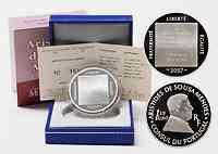 Frankreich : 1,5 Euro Mendes inkl. Originaletui und Zertifikat  2007 PP 1,5 Euro Mendes