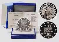 Frankreich : 1,5 Euro EU-Präsidentschaft inkl. Originaletui und Zertifikat  2008 PP 1,5 Euro Europa 2008 Frankreich