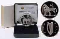 Irland 15 Euro Pferd inkl. Originaletui und Zertifikat 2010 PP