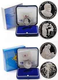 Vatikan 15 Euro Set: 5+10 Euro Weltfriedenstag 2007 PP