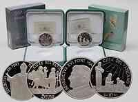 Vatikan : 15 Euro Set: 5 + 10 Euro Welttag Migranten, Weltfriedenstag inkl. Originaletui und Zertifikat  2010 PP