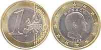 Monaco : 1 Euro Albert ohne Münzzeichen -sehr selten !- 2007 Stgl.
