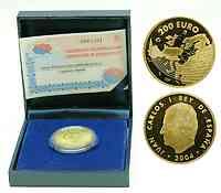 Spanien : 200 Euro EU-Erweiterung , inkl. Originaletui und Zertifikat  2004 PP 200 Euro Spanien 2004; 200 Euro EU-Erweiterung