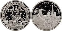 Belgien : 20 Euro A Dog of Flanders in Originalkapsel  2010 PP