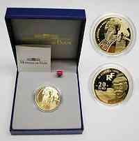 Frankreich : 20 Euro Olympiade inkl. Zertifikat und Originaletui  2003 PP