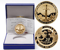 Frankreich : 20 Euro Zauberwald Broceliande inkl. Originaletui und Zertifikat  2007 PP 20 Euro Broceliande