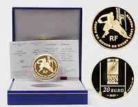Frankreich : 20 Euro Rugby WM inkl. Originaletui und Zertifikat  2007 PP 20 Euro Rugby 2007