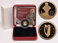Irland 20 Euro Keltisches Kreuz 2011 PP