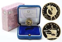 Italien : 20 Euro Irland Keltische Kunst inkl. Originaletui und Zertifikat  2007 PP