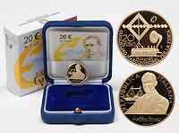 Italien : 20 Euro 100 Jahre Nobelpreis Guglielmo Marconi inkl. Originaletui und Zertifikat  2009 PP